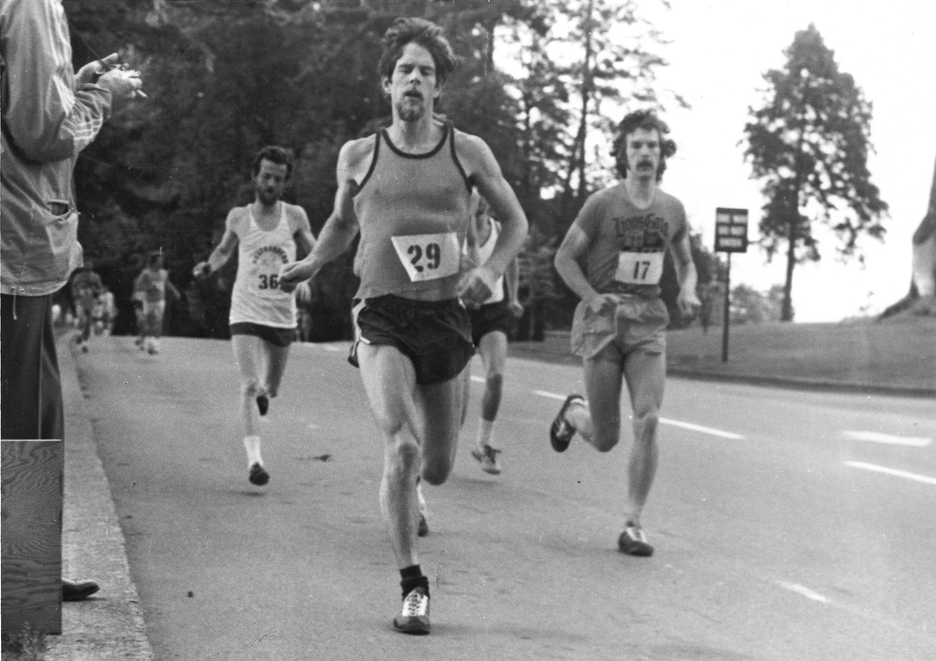 1973Vancouver Marathon - Bill Herriot (36) Tom Howard (29) Jack Taunton (17)