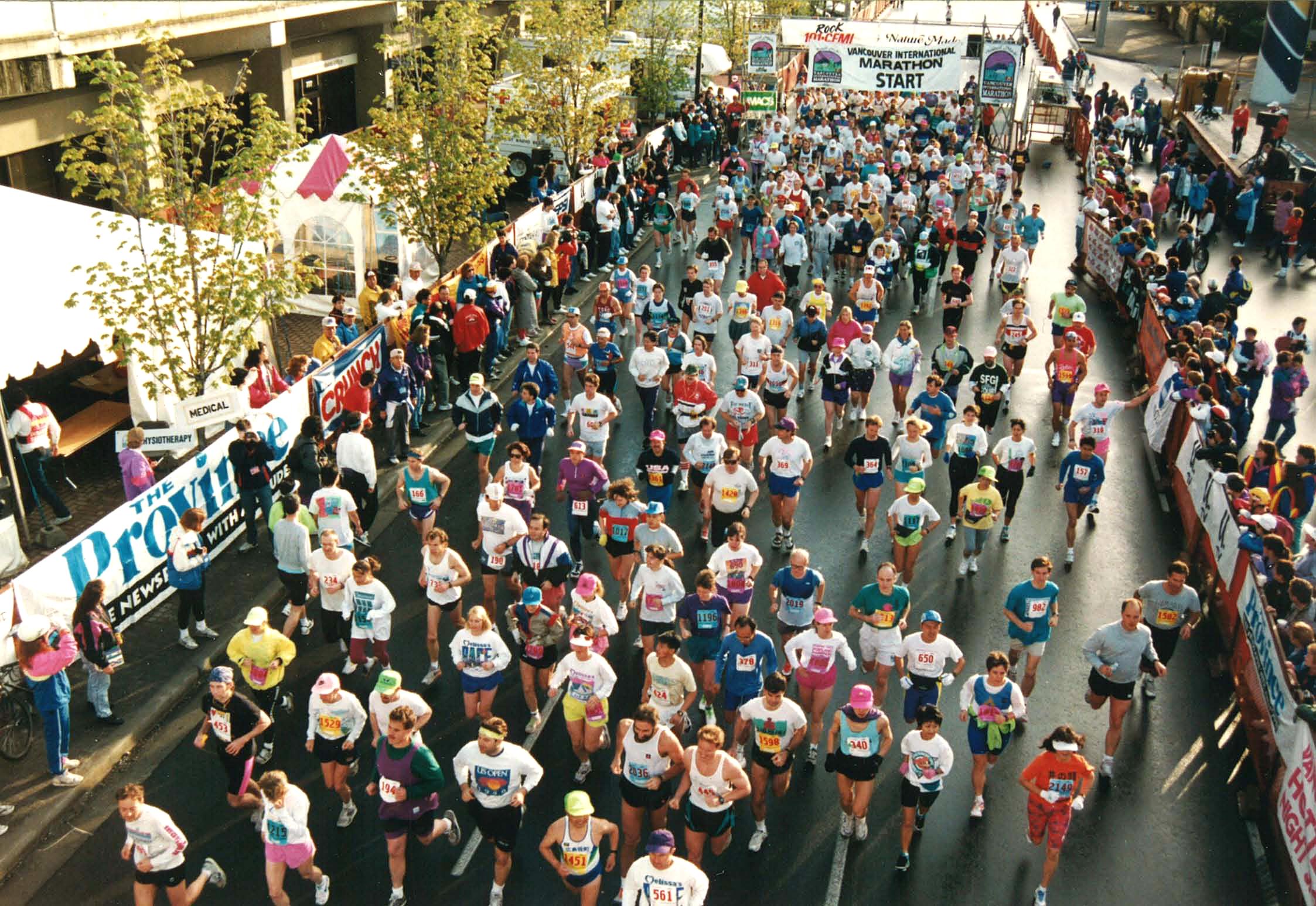 1993 Vancouver Marathon - Start line
