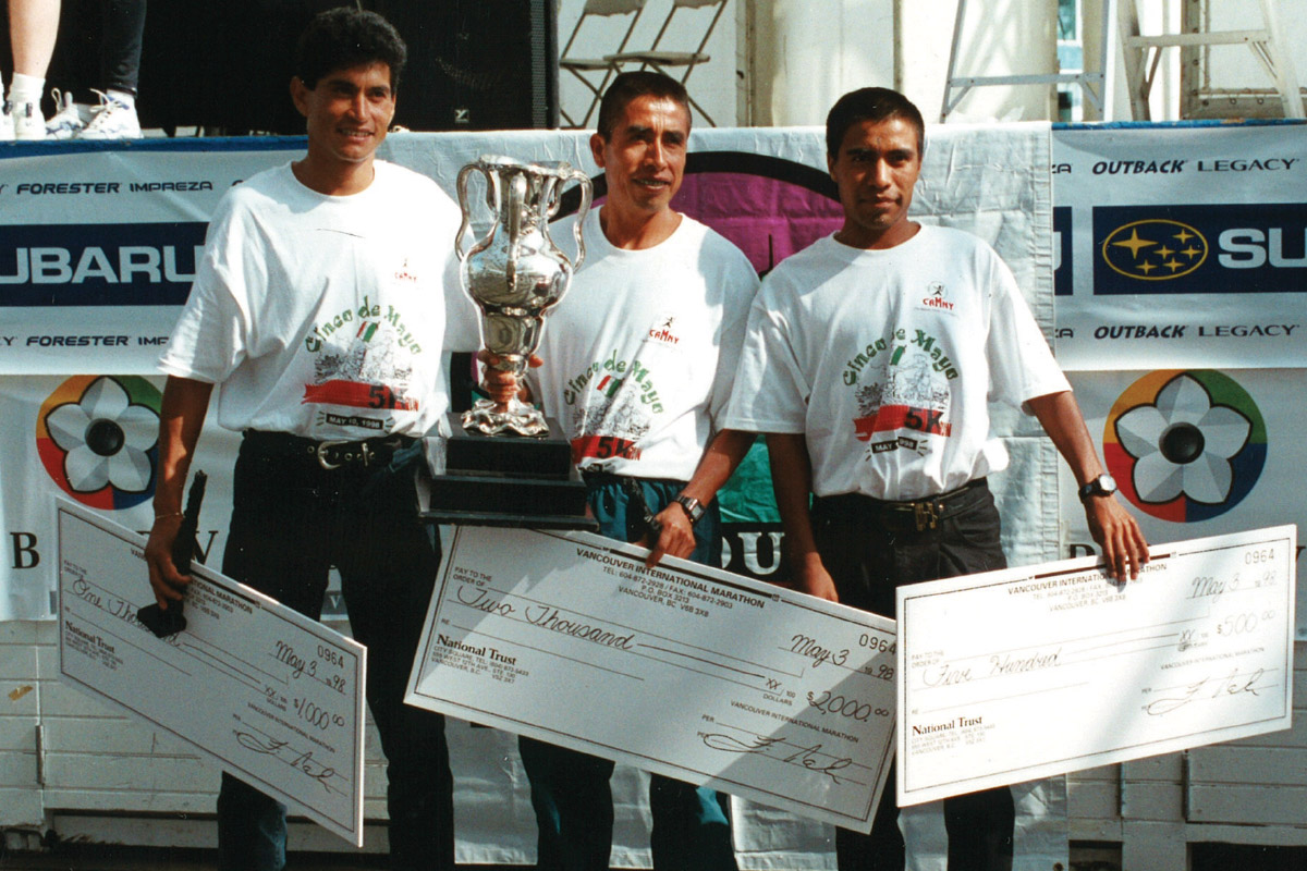 1998 Vancouver Marathon - Male Winners
