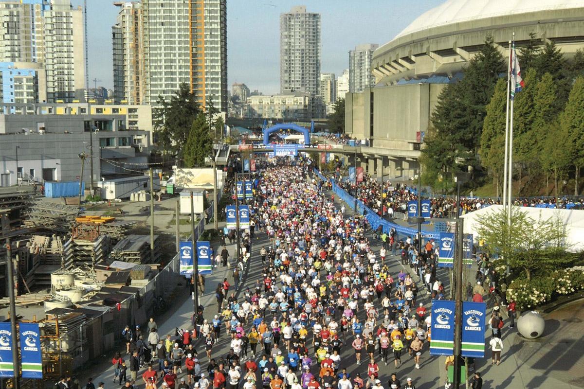 2008 Vancouver Marathon - Start Line
