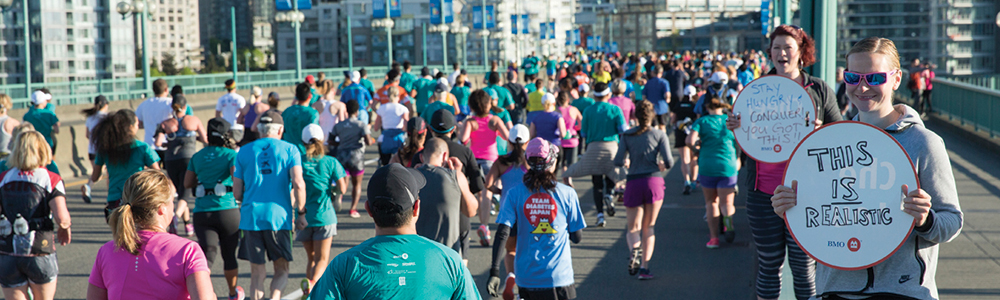 Join in! RUNVAN®. RUN • CHEER • VOLUNTEER