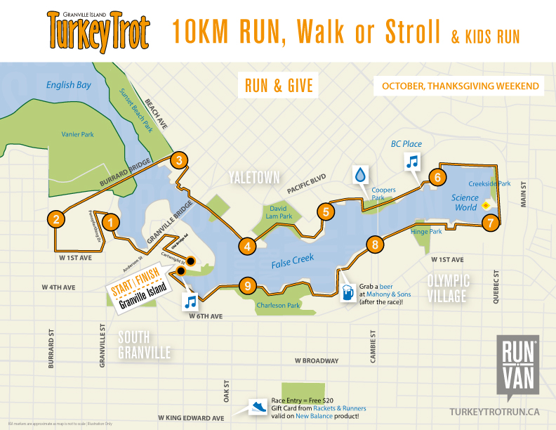 Turkey Trot Course Map
