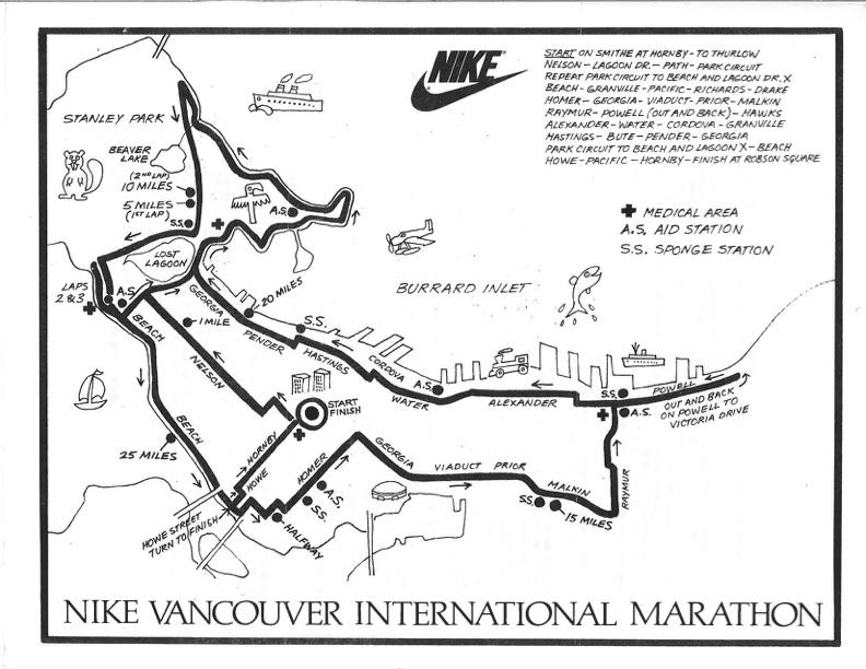 1979-1983 Marathon Course