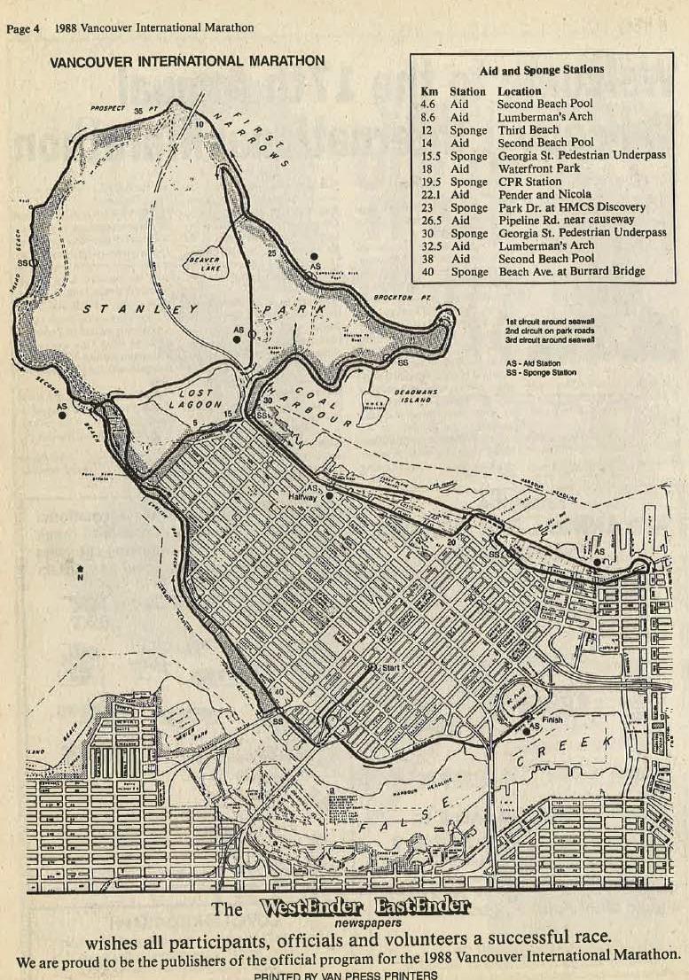 1987-1989 Marathon Course