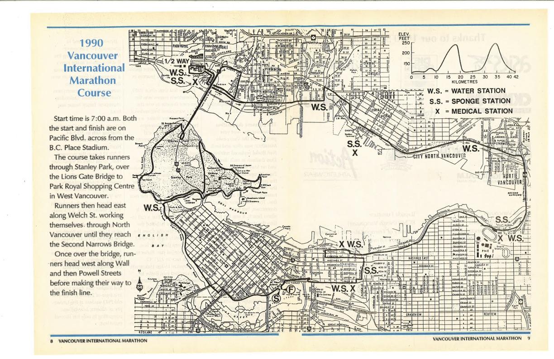 1990-1998 Marathon Course