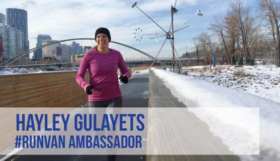 RUNVAN Ambassador Hayley Gulayets