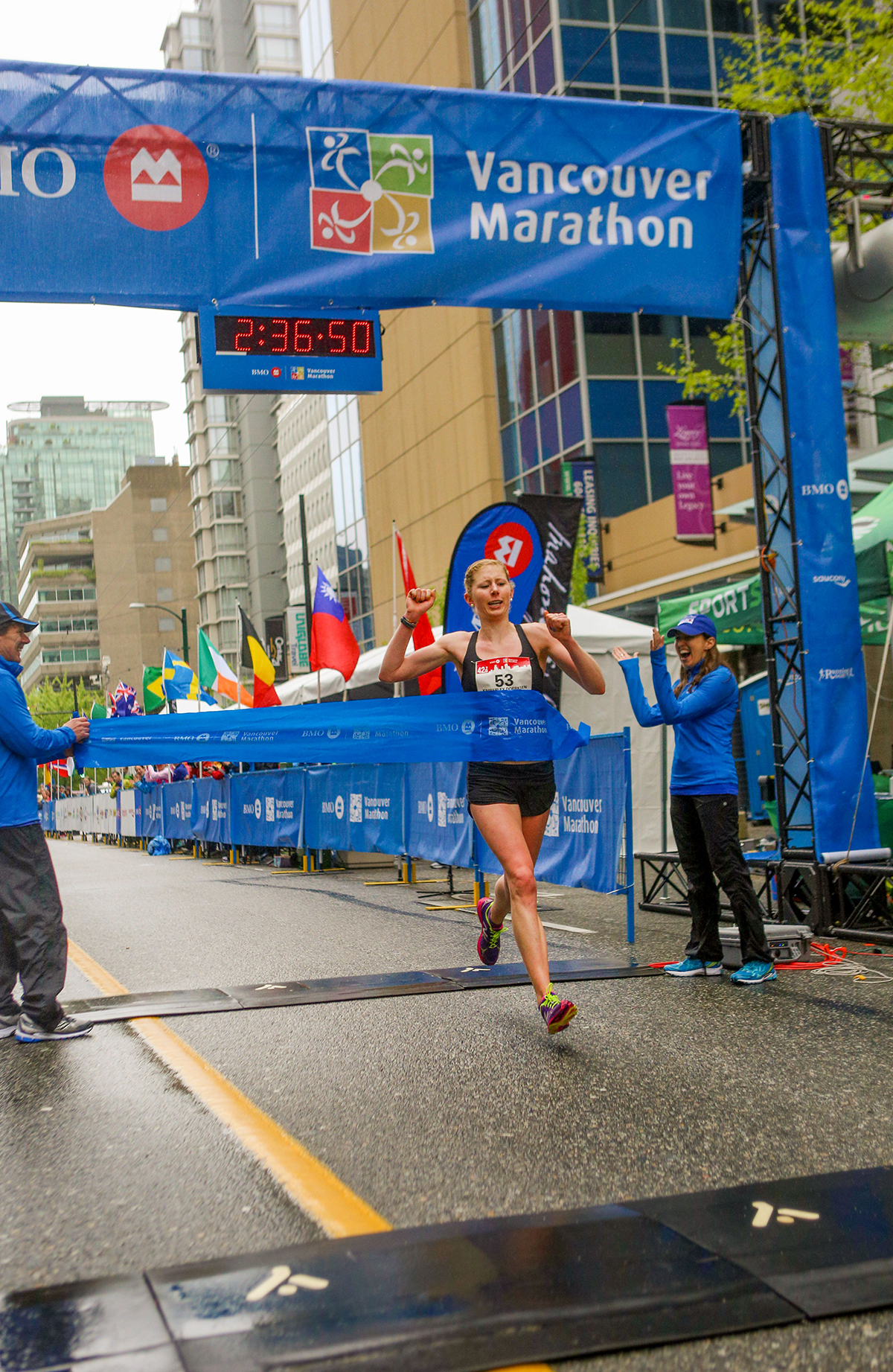Kim Doerksen BMO Vancouver Marathon Elite