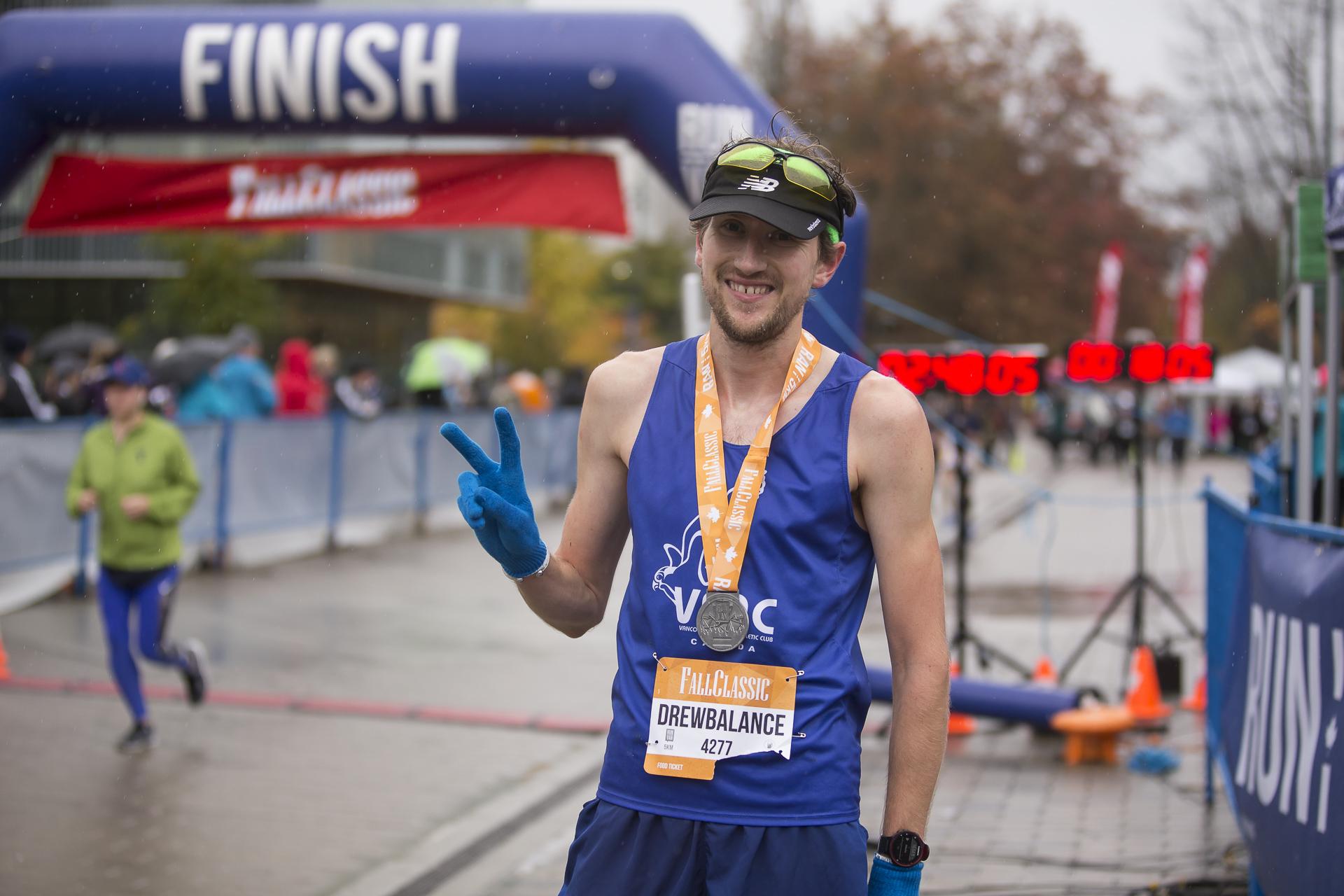 Drew Nicholson BMO Vancouver Marathon Elite