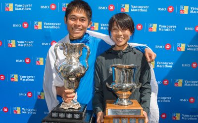 Yuki & Yuko: Engaged elites take BMO Vancouver Marathon titles